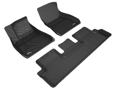 Fits: Tesla Model 3, Floor Liners by MAXpider - Front & Rear, Black