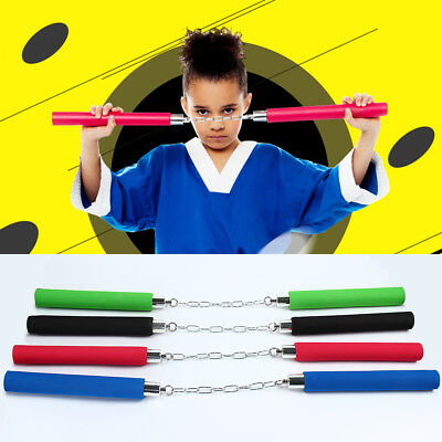 1x Martial Arts Nunchaku Foam Sponge Padded Nunchuck Sticks Training Toy Kids AU