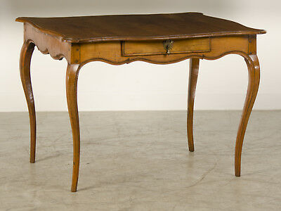 Antique French Louis XV Period Cherry Table with Drawer France circa 1760