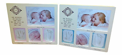 DIY Baby Boy or Girl hand and foot print clay casting frame kit (Blessing)