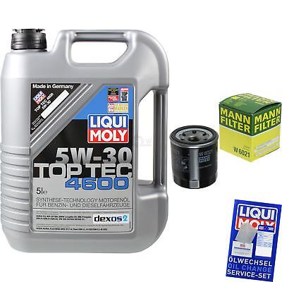 MANN-FILTER KIT CAMBIO ACEITE 5l Liqui Moly TOP TEC 4600 5w-30 mlm-9722214