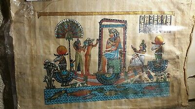 Egyptian painting on papyrus-L19