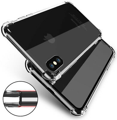 Shockproof Tough Hard Gel Clear Case Cover for Apple iPhone 5 SE 6 6s 7 8 Plus X