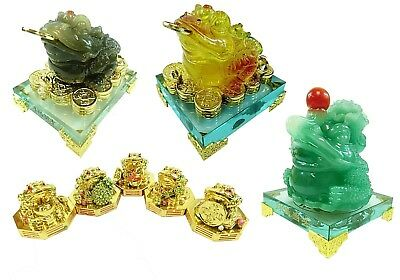 Traditional Chinese Feng Shui Symbol Decor Fortune Prosperity Wealth Money Toad