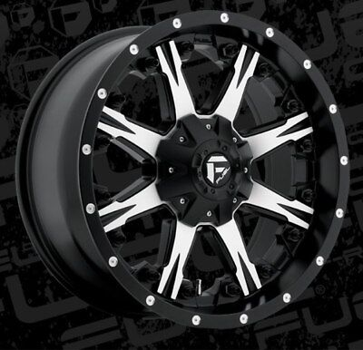 Fuel Nutz D541 20x9 5x5.5/5x150 ET20 Black Machined Rims New Set (4)