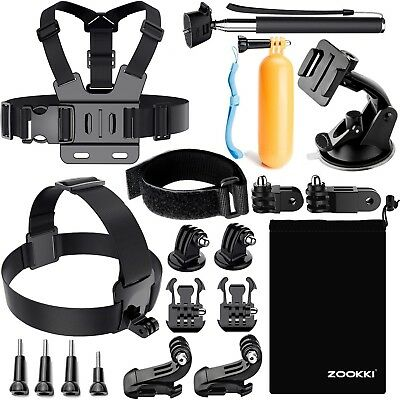 19-in-1 Accessories Kit Essential GoPro Hero 5/4/3/2/1 Session Hero Bundle Black
