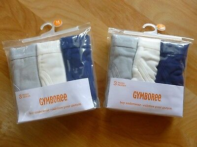 LOT 2 Gymboree Boys 3-Pack Sizes XS (4) S(5-6) M(7-8) Briefs Underwear, NWT   M1