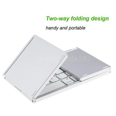 Mini Folding Bluetooth Wireless Keyboard with Touchpad for Phone Tablet Notebook