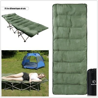 "REDCAMP Portable Cot Mattress Cotton Sleeping Pad Mat for Camping Hiking 77""x29"""