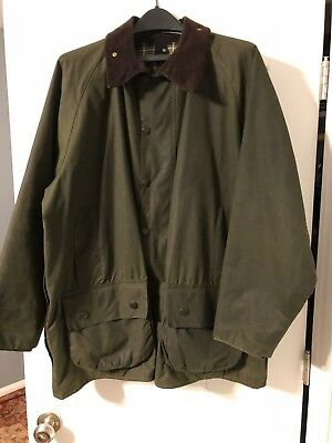 Barbour- A150 Beaufort Waxed Cotton Jacket-Sage-Made In England-Size 46