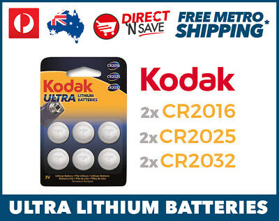 CR2016 CR2025 CR2032 3V Lithium Cell Button Battery Car Remote Camera Six Pack