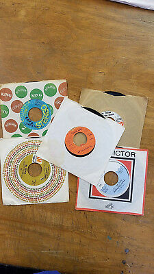 Vintage Lot of 45's - Vinyl Records for Crafts - Lot of 5 Records with Sleeves 7