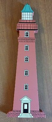Ponce De Leon Inlet Lighthouse Wooden Figurine Custom Hand Made Collectible EUC