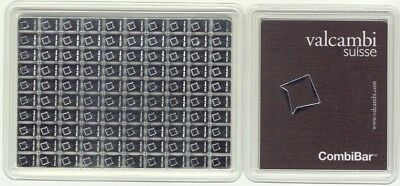 Valcambi 100x1 Gram Silver CombiBar (3.215 oz) with Assay Card