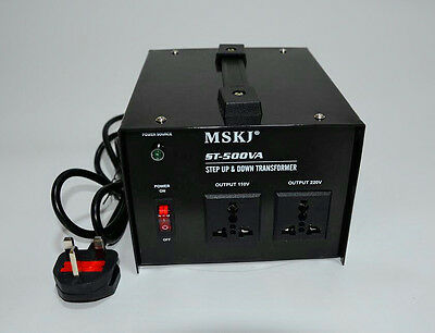 200-2000W UK-US US-UK Step up & Step Down Voltage Transformer AC Power Converter