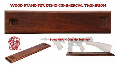 Denix Wood Display Stand for the M1928 Commercial Thompson Replica Tommy Gun