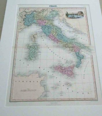 Italy. map. 1879