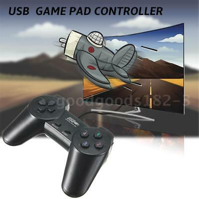 Black Wired Joystick Gamepad USB 2.0 Joypad Gaming Controller F/XBOX 360 XP D7W1