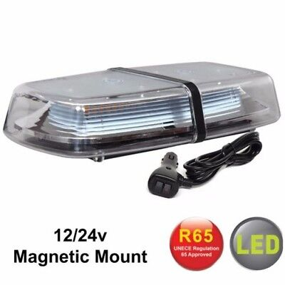 RVL1224MAG Magnetico LED Ambra Mini Barra Luminosa Allarme Lampeggiante Beacon