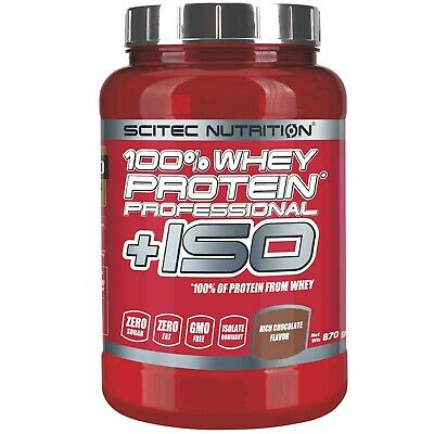 SCITEC NUTRITION 100% Whey Protein Professional +ISO 870 gr con Proteine Isolate