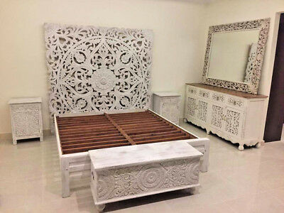 Indian Antique style Bedroom Furniture mango wood decorative