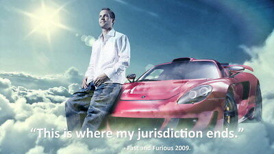 "063 Paul Walker - RIP Fast and Furious Super Movie Star 42""x24"" Poster"