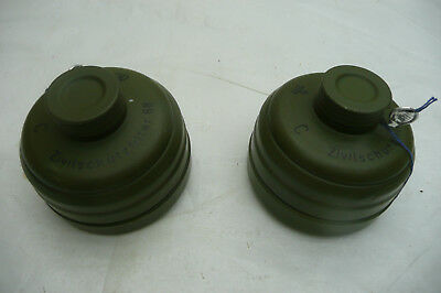 (2) NEW Sealed Military German/Israeli Style NATO NBC 40mm Gas Mask Filter