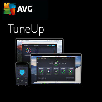 TuneUp Utilities 2019 1, 3, 5, 10 Unlimited PC/Devices AVG Tune Up 2018 UK