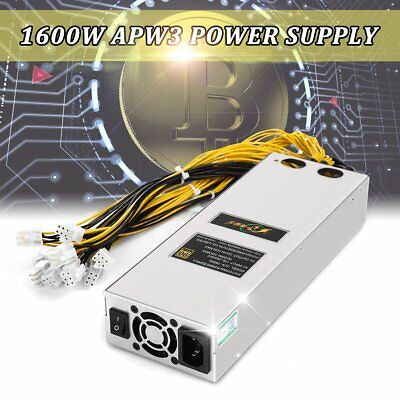 bitmain bitcoin apw3 psu 1600w miner power supply for antminer d3 s9 s7 l3 eur 145 99. Black Bedroom Furniture Sets. Home Design Ideas