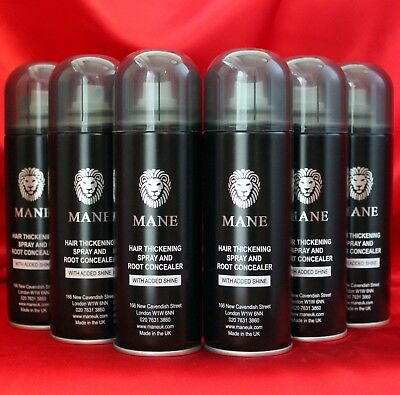 MANE Hair Thickening Spray x 6 Multibuy - for a fuller head of hair in seconds