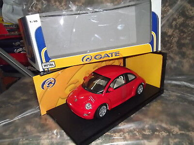 GATE (Auto art) vw volkswagen NEW BEETLE red Maikäfer Rot Kafer Skala 1/18