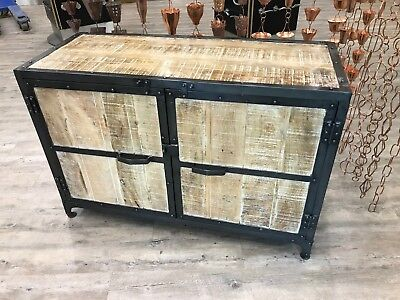 Urban Industrial style Iron and Wood Sideboard