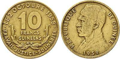 COIN Guinea 10 Francs 1959 KM# 2 XF