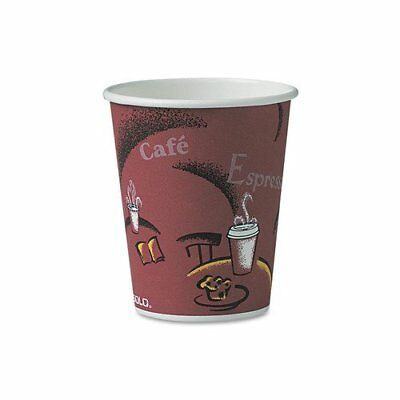 Solo Hot Drink Cups 10Oz Maroon 300Ct Paper Bistro Design Coffee Cup Use To Go
