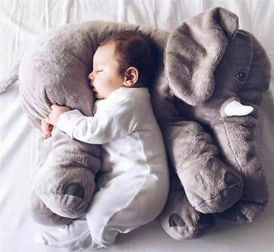 Elephant Baby Kid Long Nose Elephant Lumbar Pillow Doll Toy Soft Plush Stuff Toy