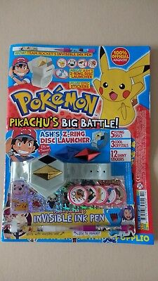 Pokémon Official Magazine Issue 14 with Free Ash's Z-Ring Disc Launcher
