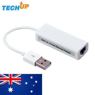 USB 2.0 to LAN RJ45 Ethernet Adapter 10/100Mbps speed for Mac & Windows
