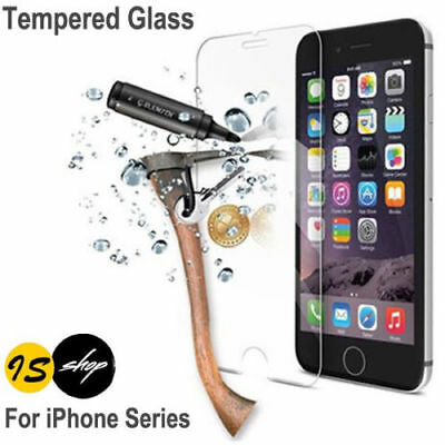 Scratch Resist Tempered Glass Screen Protector for Apple iPhone 7 8 6 Plus 5 4