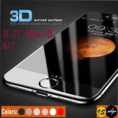 3D FULL Cover TEMPERED GLASS Screen Protector for Apple iPhone X 8 7 6 6s Plus