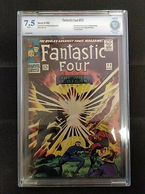 FANTASTIC FOUR #53 (1966) CBCS 7.5 graded, 1st Klaw, 2nd Black Panther, like CGC