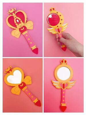 Magical Anime Girl Wand Mirrors Pocket / Hand / Makeup Size Sailor Moon Mahou