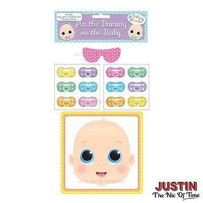PIN THE DUMMY ON THE BABY SHOWER PARTY GAME Up to 48 Players Boy Girl Unisex