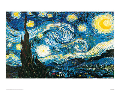 Starry Night - Vincent Van Gogh - Fine Art Giclee Print Poster (Various Sizes)
