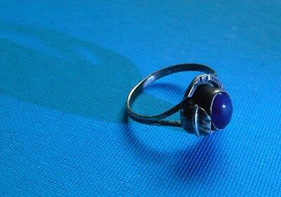 American Indian (Native American) Silver ring - Old, SIGNED