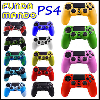 Funda de silicona para mando Sony PlayStation 4 PS4 Play Camuflaje Carcasa Gel