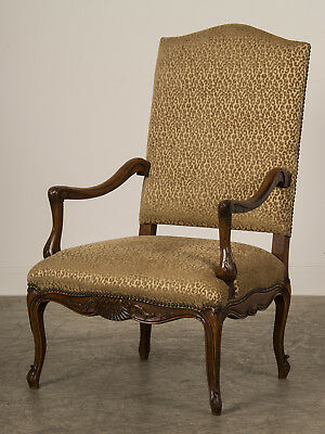 Antique French Louis XV Style Walnut Armchair Fauteuil France circa 1880