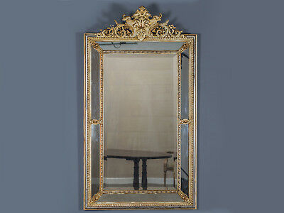 Antique French Régence Style Pareclose Gold Mirror from France circa 1880