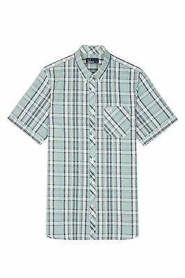Fred Perry Bold Check Shirt,Silver Blue,M3532, New for 2018,Mod,Soul,Ska,Scooter