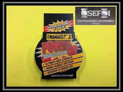 Everbuild Mammoth Powergrip double-sided tape 12mm x 2.5m