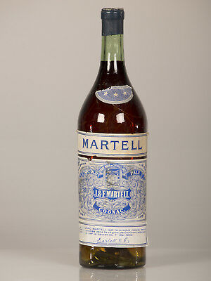 "Large Scale Vintage French ""Martell"" Cognac Advertising Prop Bottle circa 1940"